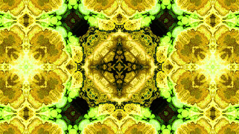 Colorful abstract fractal art kaleidoscope animation background Animation