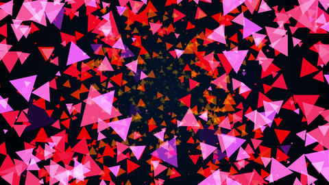 3D rendering background of numerous triangular particles on a black. Computer Live Action