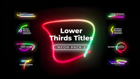 Lower Thirds Neon Titles 2 애플 모션 템플릿