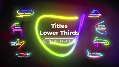 Neon Lower Thirds Titles (FCPX) 0