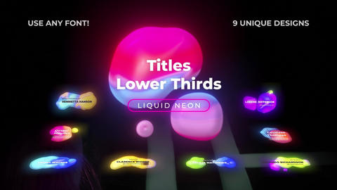 Neon Lower Thirds Titles (FCPX) 1