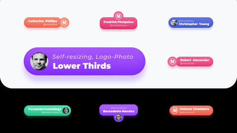 Lower Thirds Social Media (Self Resizing) After Effects Template