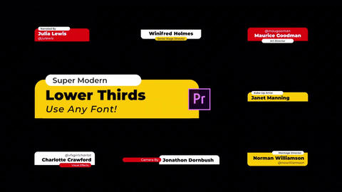 Lower Thirds Modern Premiere Proテンプレート