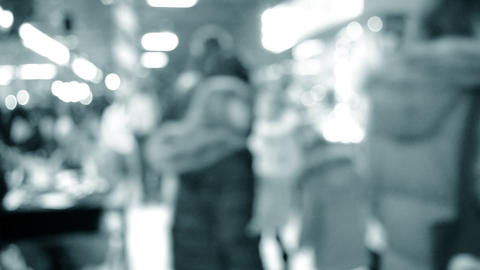 Crowd lot of people in mall. Blurred Abstract Background. Blurred View Live Action