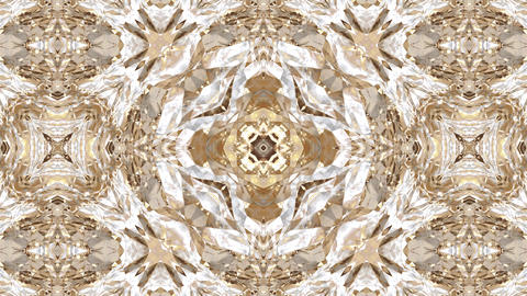 Colorful abstract golden foil art kaleidoscope animation background Animation