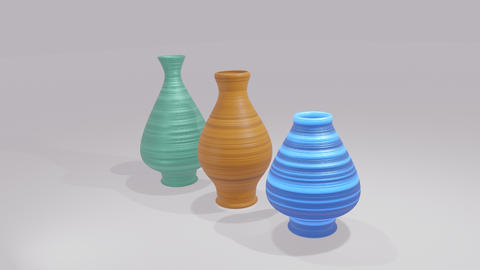 Flower Vases 3D Model