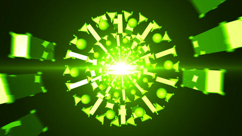 Looped Abstract technology tunnel Animation