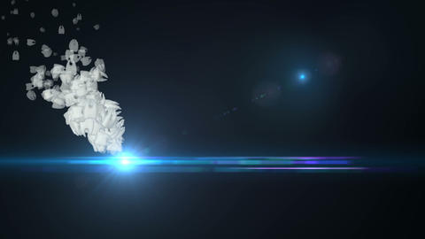 Tooth animation with flares CG動画素材