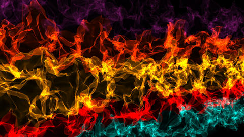 Abstract colorful waving animation background Animation