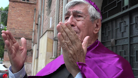 Priest Speaking Footage