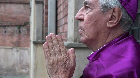Priest Cursing God Footage