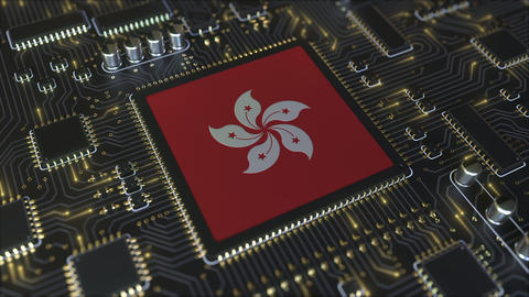 Flag of Hong Kong on the operating chipset. Information technology or hardware Live Action