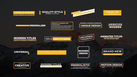 20 Creative Titles Motion Graphics Template