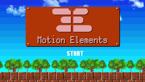 8bit opening After Effects Template