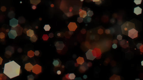 Mov203 particle hexagon glitter loop 01 CG動画
