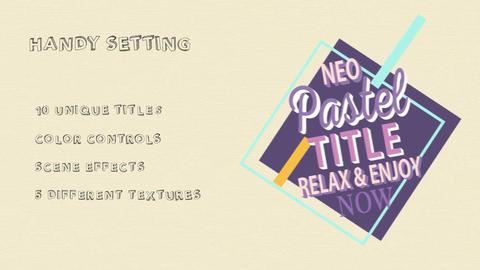 10 Pastel Title Pack MOGRT モーショングラフィックステンプレート
