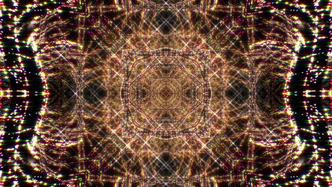 Kaleidoscope illumination neon light H1 4k Animation