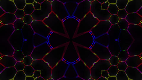 Hexagon flash VJ Loop CG動画