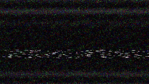TV noise VJ Loop Animation