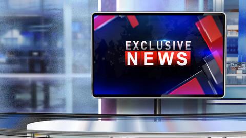 Exclusive news virtual set CG動画