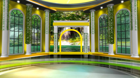 Nature virtual set centre Animation