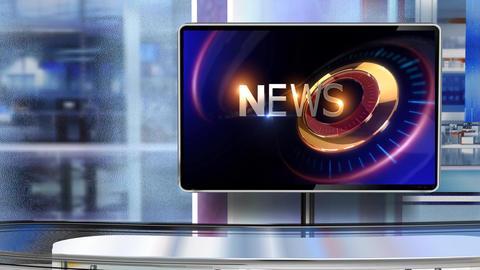 News virtual set CG動画