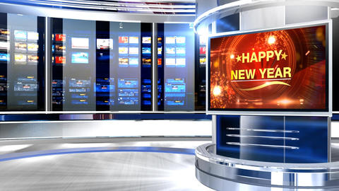 Happy new year Pcr studio Animation