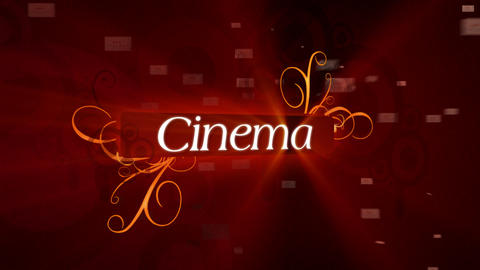 Sting for Cinema Stock Video Footage