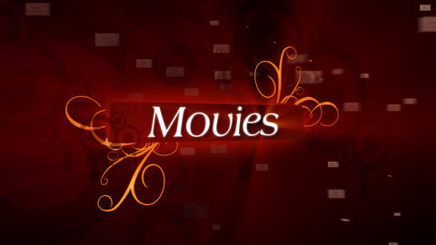 Movies Titles / Sting Stock Video Footage