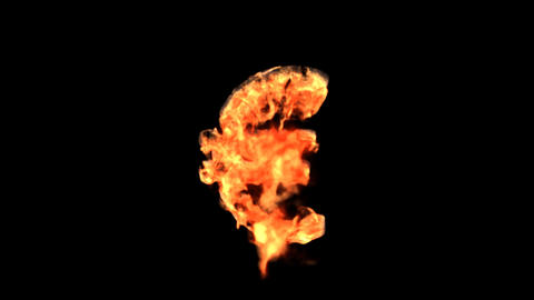 fire euro Stock Video Footage