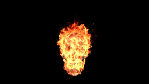 fire skull Stock Video Footage