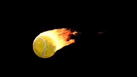 fire tennis Stock Video Footage