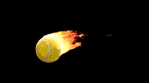 fire tennis Animation