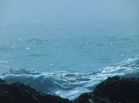 Ocean Waves 05 Waves crashing on rocks Stock Video Footage