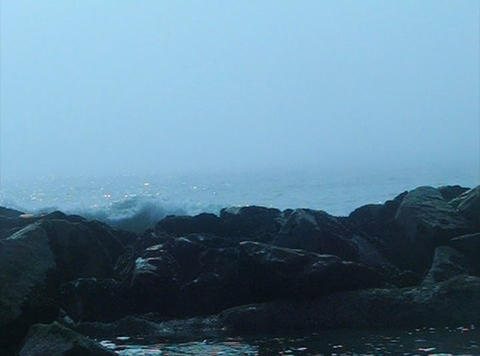 Ocean Waves 09 Waves crashing on rocks_43sec Stock Video Footage