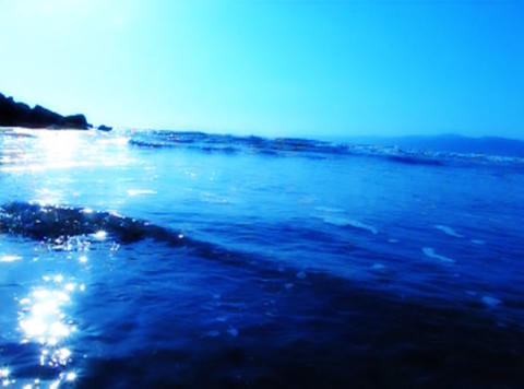 Ocean Waves 15 On the beach dolly shot_1min Stock Video Footage