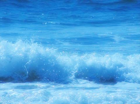 Ocean Waves 17 Waves crashing on beach glow Loop Stock Video Footage