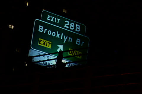 Brooklyn Bridge Signboard Stock Video Footage