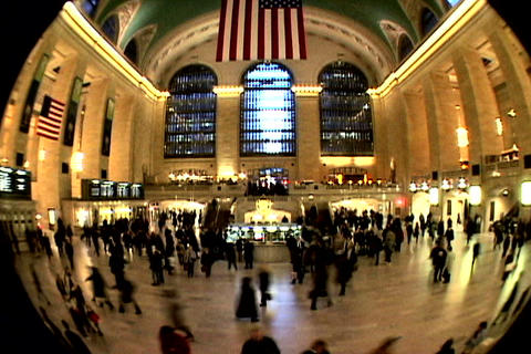 Grand Central Station Fish Eye Shutter XWide Footage