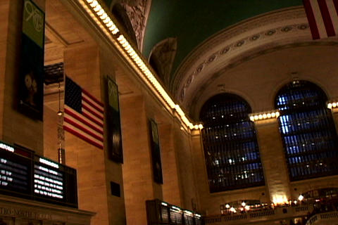 Grand Central Station Flags Shutter Stock Video Footage
