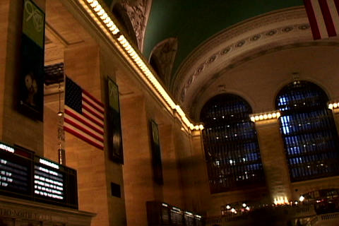 Grand Central Station Flags Shutter Footage