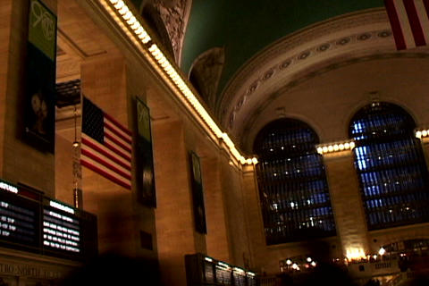 Grand Central Station Flags Shutter2 Footage