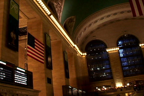 Grand Central Station Flags Shutter2 Stock Video Footage