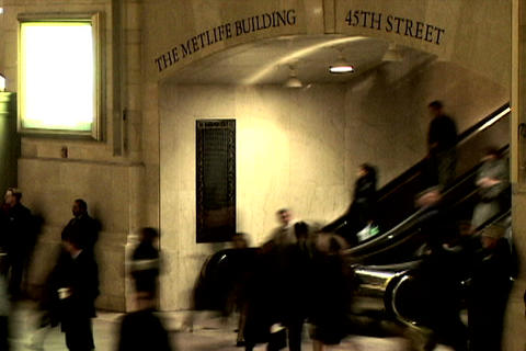 Grand Central Station Shutter Escalator Footage