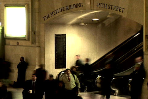 Grand Central Station Shutter Escalator Stock Video Footage