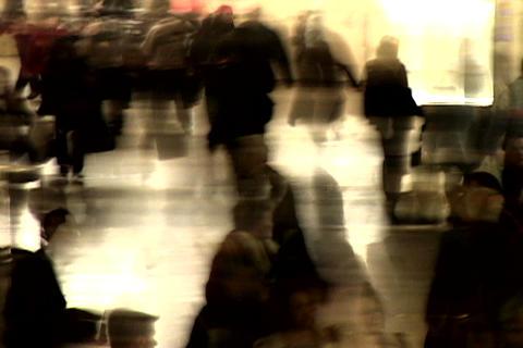 Grand Central Station Shutter Med Blend Footage