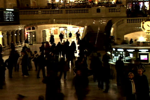 Grand Central Station Shutter Wide Left Stock Video Footage