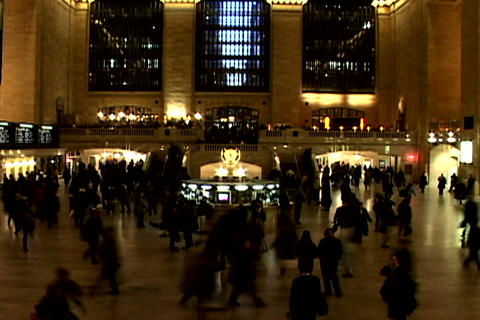 Grand Central Station Shutter XWide 1 Stock Video Footage