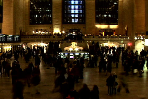 Grand Central Station Shutter XWide 3 Stock Video Footage