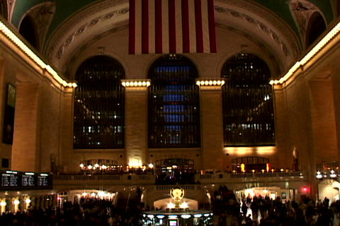 Grand Central Station Wide Shutter 2 Stock Video Footage